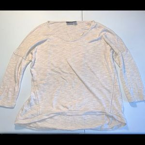 a.n.a 3/4 sleeve cream color size Large